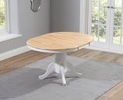 mark harris elstree oak and white dining set 100cm round with extendable table ideas 17
