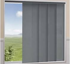 Panel blinds are another popular choice for patio doors, as well as very  large windows. Panel blinds feature sections which move along a track,  which allows ...