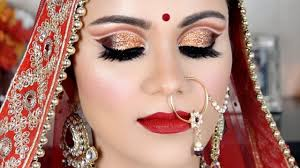 double cut crease indian bridal makeup tutorial in hindi beyourself channel