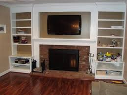 how to build built in bookshelves around fireplace
