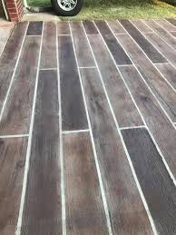 stain concrete floors to look like wood
