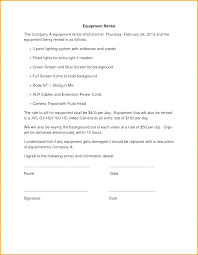 Free Simple Lease Agreement Form Fascinating Camera Rental Contract Template Psychicnightsco