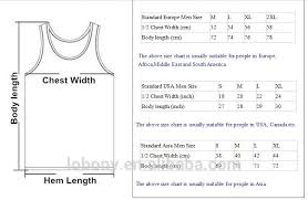 Tank Top Size Chart Men I Love It When Tank Top Men And Women Size S To 3xl