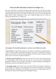 Keto Diet Chart Weight Loss Ppt Why Keto Diet Meal Plan Is Perfect For Weight Loss