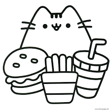 Show them your love and affection and let them show their artistic and creative sides. Print Pusheen Ready To Eat Food Coloring Pages Pusheen Coloring Pages Unicorn Coloring Pages Cool Coloring Pages