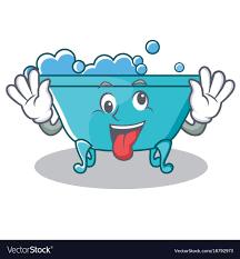 crazy bathtub character cartoon style vector image