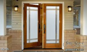 frosted glass front doors traditional