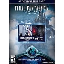 Timecard Ca Final Fantasy Xiv A Realm Reborn 60 Day Time Card Pc Ps3 Ps4