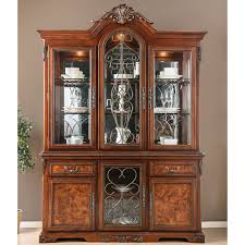 Furniture of America Tifanil Traditional Brown Cherry Wood/Metal 2-piece  Buffet and Hutch Set - Free Shipping Today - Overstock.com - 25408471