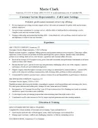Sample Customer Service Resume Call Center Resumes Examples Call