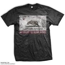 california flag rkba infringed t shirt