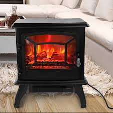 ktaxon small electric fireplace indoor free standing stove heater fire flame stove adjustable com