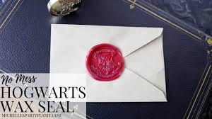 diy hogwarts stationery with no mess envelope wax seal