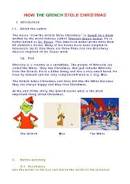 Worksheet: How the Grinch Stole Christmas