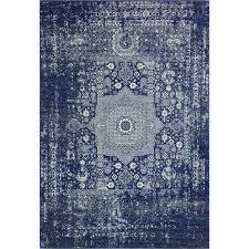 dark blue contemporary 8 foot runner rug everek