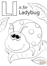 Coloring Pages Of Ladybug Copy Letter L Is For Ladybug Coloring