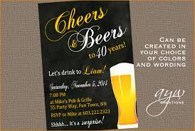40th birthday invitation man cheers and beers birthday party 40th birthday party invitations cheers and beers