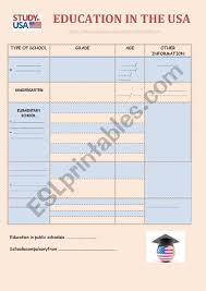 The Us Education System Esl Worksheet By Laula10