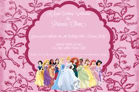 tea party princess invitation