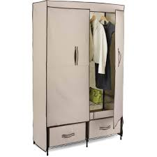 honey can do double door closet storage with two drawers beige brown com