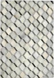 area rugs grey diamond pattern cowhide patchwork rug sisal cream