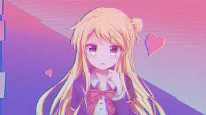 1920x1080 Pink Anime Wallpaper