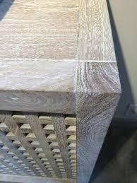 white washed mango wood. Lattice White Washed Console Mango Wood Plank Top And Solid Panels With No Doors F