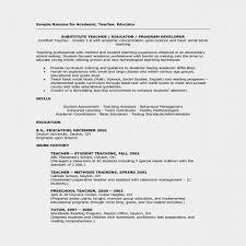 Unique Substitute Teacher Job Description For Resume Elegant