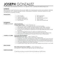 Auto Mechanic Sample Resume Topshoppingnetwork Com