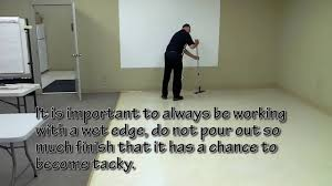 how to apply floor finish using flat mop system