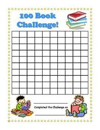Book Reading Chart 100 Book Challenge Reading Chart For Kids