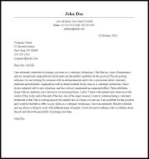 Vet Tech Cover Letter Veterinary Assistant Resume Help For Sample