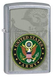 <b>Zippo</b> US <b>United States Army</b> Street Chrome Windproof <b>Lighter</b> в ...