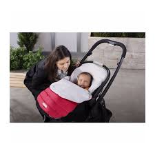 down bundleme car seat cover by jj cole red warm and comfy