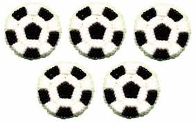 Soccer Ball Icing Decorations Soccer Balls Icing Decoration 100 pc [100100] Cook Specialty 52