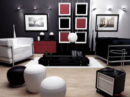 Living Room Apartment Design Inspiring Black And White Interior Design For Small Living Room
