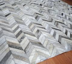 chevron cowhide rug gray chevron rug white chevron cowhide rug