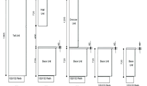 size of kitchen cabinet sizes chart and specifications guide standard depth uk