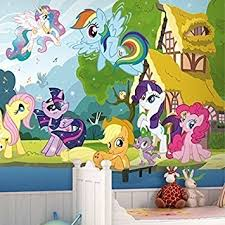 walplus wall stickers my little pony mural art decals vinyl home