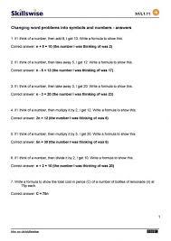 Change Word Problems Worksheet - Switchconf