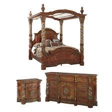 Michael Amini Villa Valencia Canopy Configurable Bedroom Set
