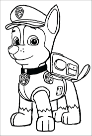 Paw Patrol Coloring Pages Chase Coloring Pages Ideas Paw Patrol