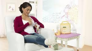 Wife pumping breast milk