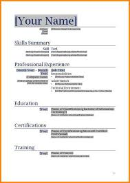 Free Blank Resume Templates Template Business