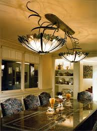 Image of: Stained Glass Dining Room Light Fixtures