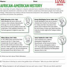 African American History Worksheets - Checks Worksheet
