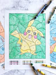Color by number for kids printables | these pokemon free printable color by numbers are the perfect boredom buster for your kids this summer. 3 Free Pokemon Color By Number Printable Worksheets Kindergarten Craft Activities Printable Numbers Kindergarten Crafts