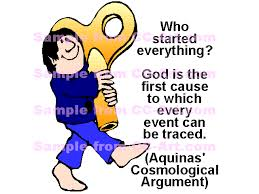 cosmological `who started everything god is the first cause to  `who started everything god is the first cause to which every event can be