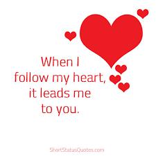 Short Love Status Captions Short Love Quotes