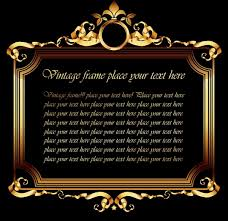 frame template classical elegant symmetrical golden decor free vector 1 45mb